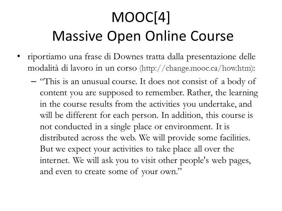 MOOC[4] Massive Open Online Course